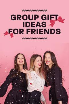 Black & Pink Group Gift Ideas Pinterest Post  Confetti