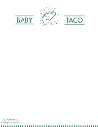 Green Illustrated Mexican Restauant Letterhead with Logo Letterhead Templates