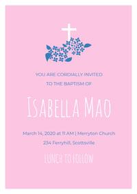 Isabella Mao Convite de batizado