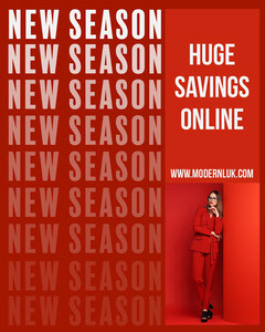 Red & White New Season Savings Instagram Portrait Sale Flyer