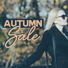 Navy & Orange Girl in Sunglasses Instagram Square Autumn