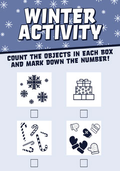 White And Blue Christmas Worksheet Kids