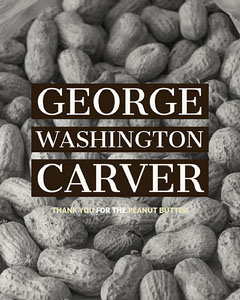 Black and White George Washington Carver Appreciation Instagram Portrait History