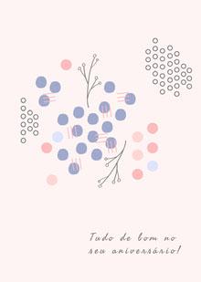 abstract art birthday cards  Cartão de aniversário
