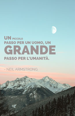 neil armstrong quote poster Volantino