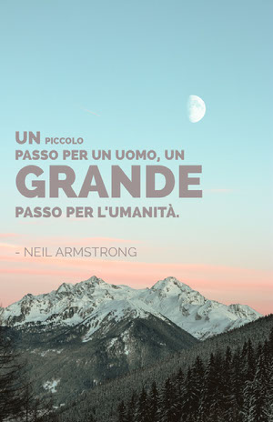 neil armstrong quote poster Locandina