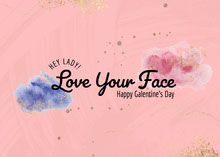 Pink Watercolour Galentine's Day Card Cards