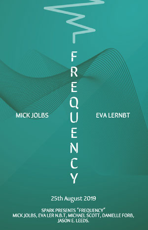 Blue and White Frequency Movie Poster Poster film