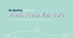 Green Blue Fresh Ocean Fish Instagram Square  Launch