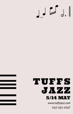 Pink Jazz Concert Poster Jazz