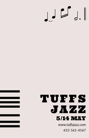 TUFFS JAZZ  Event Poster