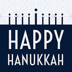 Blue and White Minimalistic Modern Hanukkah Wishes Instagram Graphic Hannukkah