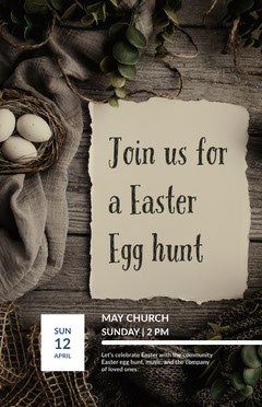 Black and Beige Church Event Flyer Easter