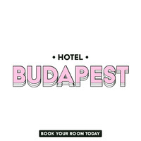 Pink and White Hotel Instagram Square Ad with Logo petite entreprise