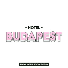 Pink and White Hotel Instagram Square Ad with Logo Hotels