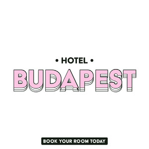 Pink and White Hotel Instagram Square Ad with Logo Profilbild