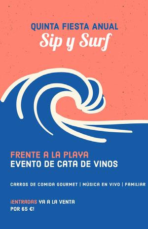 wine tasting event poster  Cartel de evento