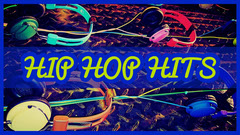Blue and Green Hip Hop Hits Music Youtube Thumbnail with Headphones Hip Hop Flyer