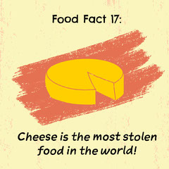 Yellow Cheese Fact Instagram Square Cheese