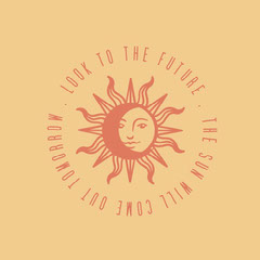 orange yellow crescent sun moon look to the future instagram square  Sun