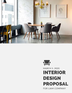 Modern Interior Design Business Proposal Interior Design