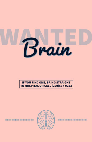 Pink Brain Wanted for Hospital Flyer Pink Flyers