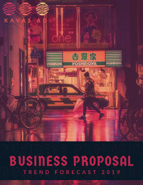 Advertising Trends Business Proposal with Picture of City Street Offerta