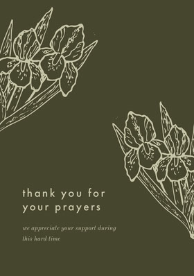 Green and White Thank You Card Thank You Card
