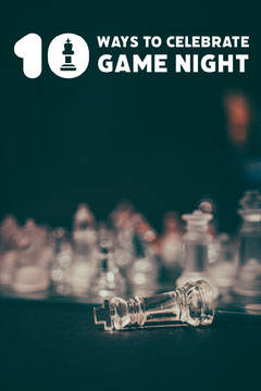Chess Piece Photo Game Night Celebration Ideas Pinterest Graphic Game Night Flyer