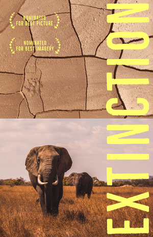 Nature Documentary Movie Poster with Elephants Poster film