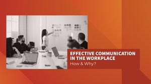 Red & Orange Workplace Presentation Cover Presentation