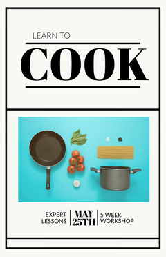 cooking poster Workshop