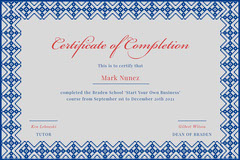 start your own business certificate of completion Tutor Flyer
