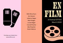 Pink and Orange Illustrated Film Festival Brochure Festival