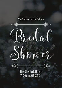 Blue Bridal Shower Invite Wedding Invitation