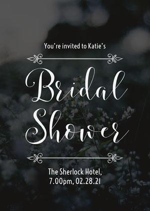 Blue Bridal Shower Invite Bridal Shower Invitation