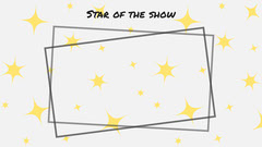black white yellow star of the show gram zoom background  Fashion Show