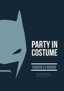 Party in <BR>costume<BR> Invito