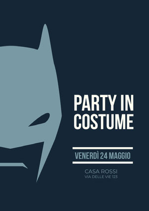Party in <BR>costume<BR> Invito a una festa