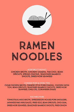 ramen noodles menu Ramen