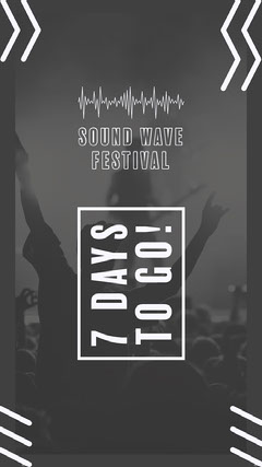 Gray and White Festival Instagram Story  Countdown