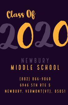 Violet Orange and Black Graduation Poster School Posters