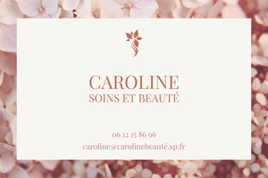 Pink Flower Petal Beauty Business Card Carte de visite