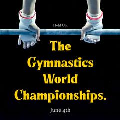 Black and Yellow Gymnastics World Championships Instagram Square Sports