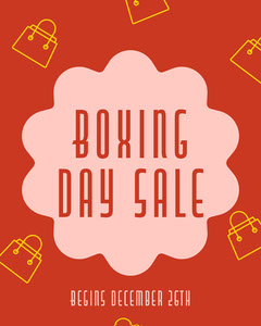 Red & Pink Boxing Day Sale Instagram Portrait Boxing