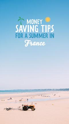 Summer Saving Tips Instagram Story Ocean