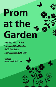 Prom at the Garden  School Posters