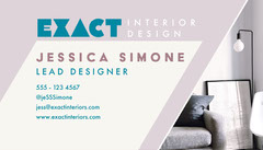 Pink and Blue Modern Style Interior Designer Business Card Interior Design