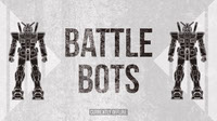 Black and White Battle Bots Banner Banner