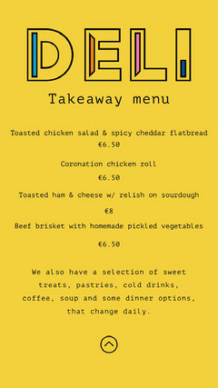 Yellow Restaurant Takeaway Food Menu Restaurants